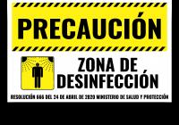 zona de desinfección